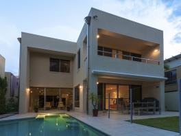 Modern Home Exterior At Dusk